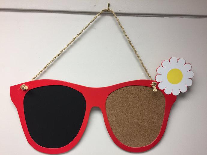 Sunglass Frame Chalkboard and Cork by A Creative Design Texas on