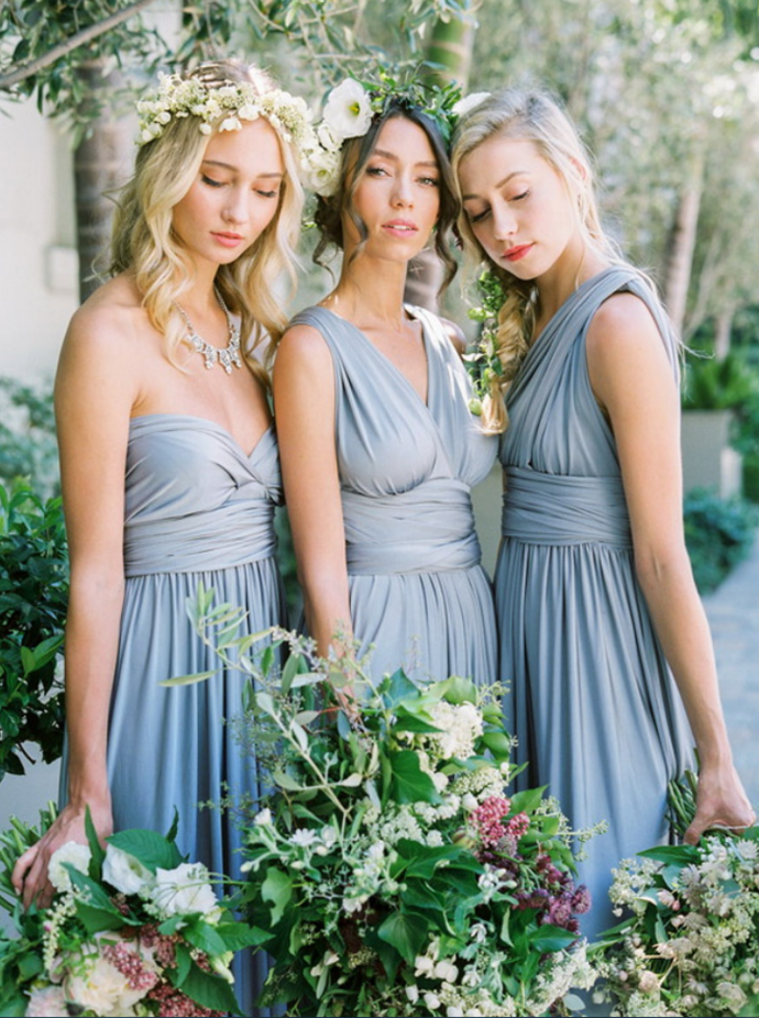 Convertible/Multiway Bridesmaid Dresses-Dusty Blue Convertible Bridesmaid