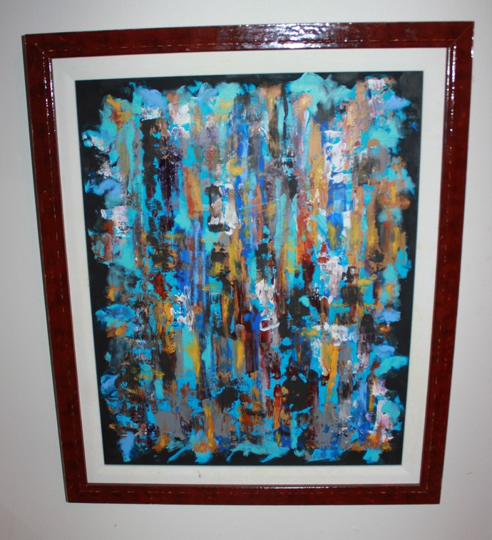 """""""My Jazzy Painting"""",  16"""" x  20"""" in,  Acrylic on Canvas."""