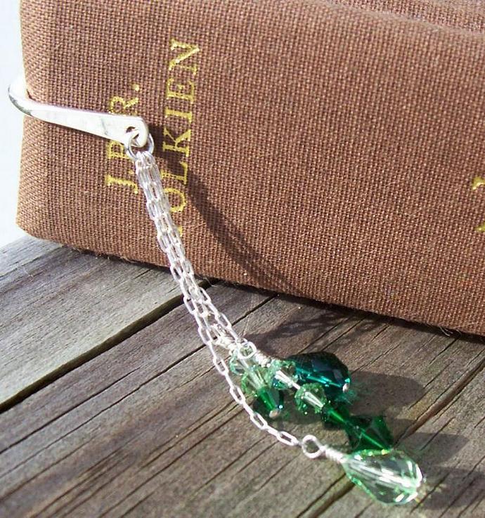 Swarovski Crystal Bookmark - Gradient Greens