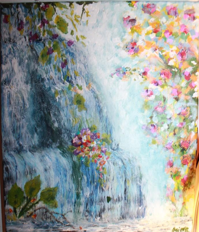 "The Garden of Eden, 10"" x 12"" in,  Acrylic on Canvas."