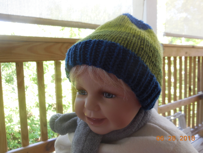 271e4e580bf Bright Stripe Infant beanie by IllusionsbyDonna on Zibbet
