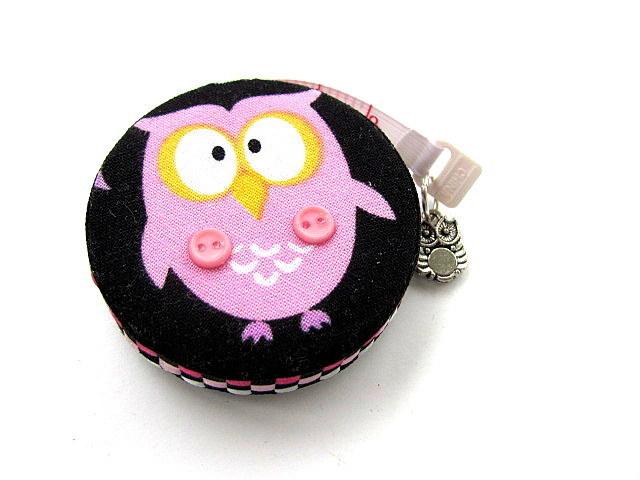 Measuring Tape Pink Owls Retractable Pocket Tape Measure