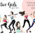 Watercolour fashion illustration clipart - Active Girls - Light Skin
