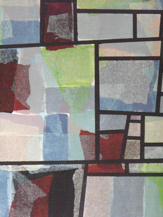 Original contemporary abstract mixed media painting,modern home decor,stained