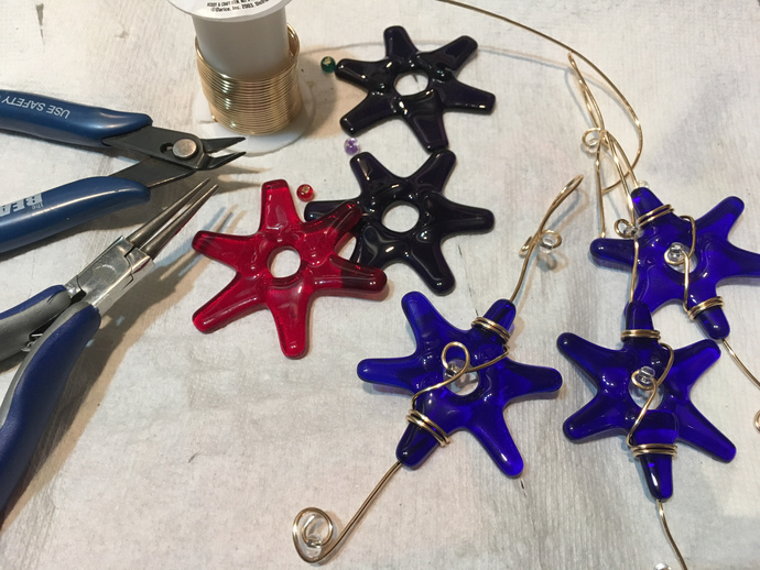 Red Glass Star Decoration, Handmade,  Customizable, Glass Star, Gay Pride,