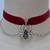 3D SPIDER With Chains Black Velvet Choker Handmade In 30 Branded Ribbon Colours,