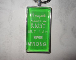 PUFF! Comic book words keychain - funny by FantasticFrippery