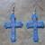 Cross Earrings Hand Made Seed Beaded Bead Work