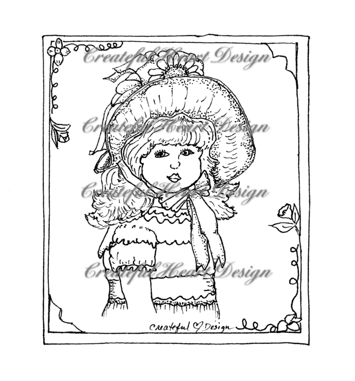 """Sarah Jane"" digital stamp"