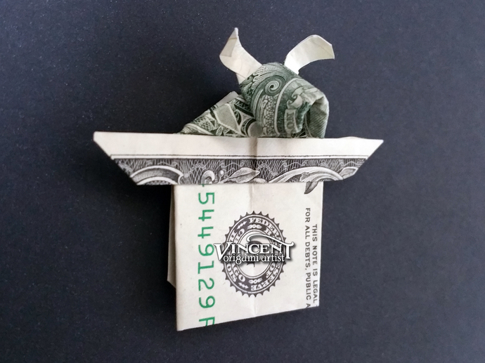 Rabbit in a Hat Money Origami Dollar Bill Animal Bunny Cash Sculptors Bank Note