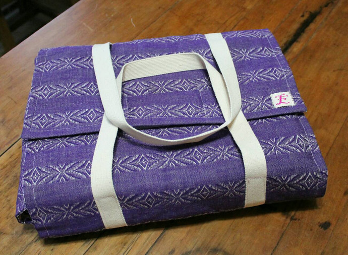 Insulated Casserole Carrier in Purple Denim