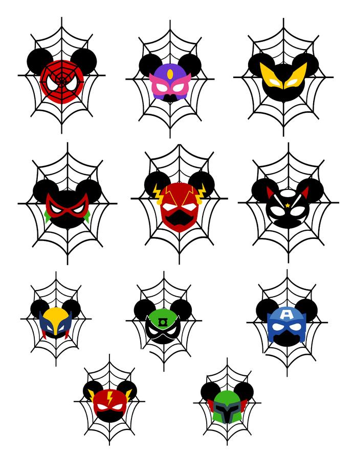 Mix Halloween SuperHero Spiderweb-Digital Clipart-Pumpkins-Gift