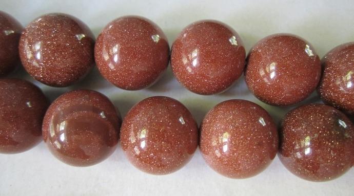 Gold Sandstone Beads
