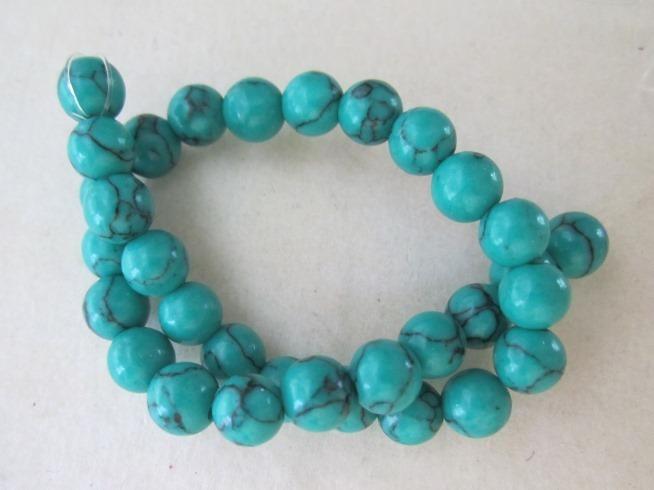 Dyed Howlite Round Beads