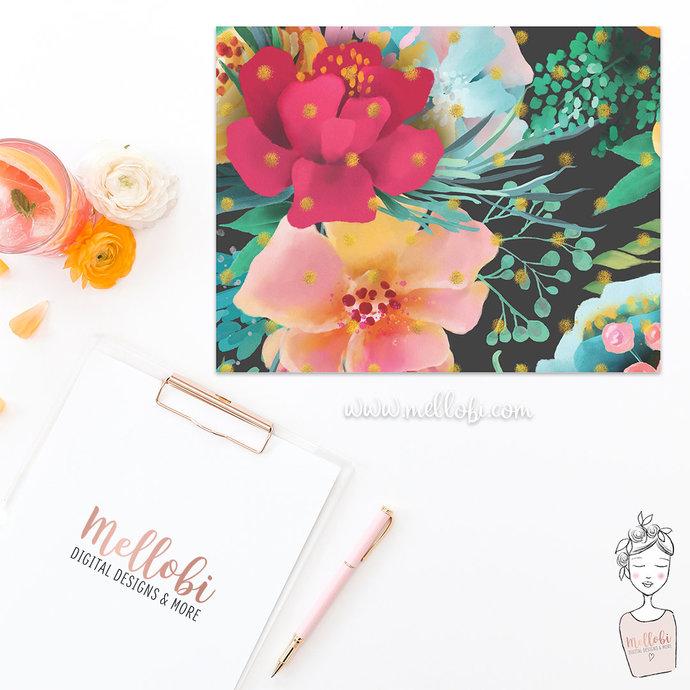 Summer Florals Paper Set