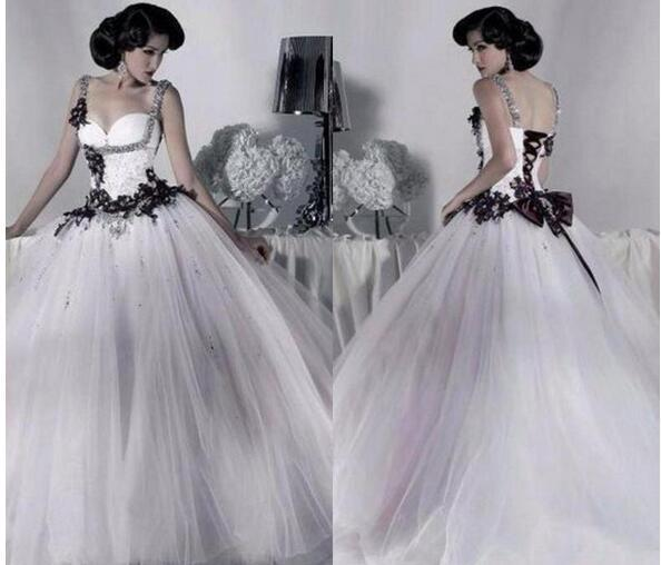 Vintage White and Black Tulle Wedding by Miss Zhu Bridal on Zibbet