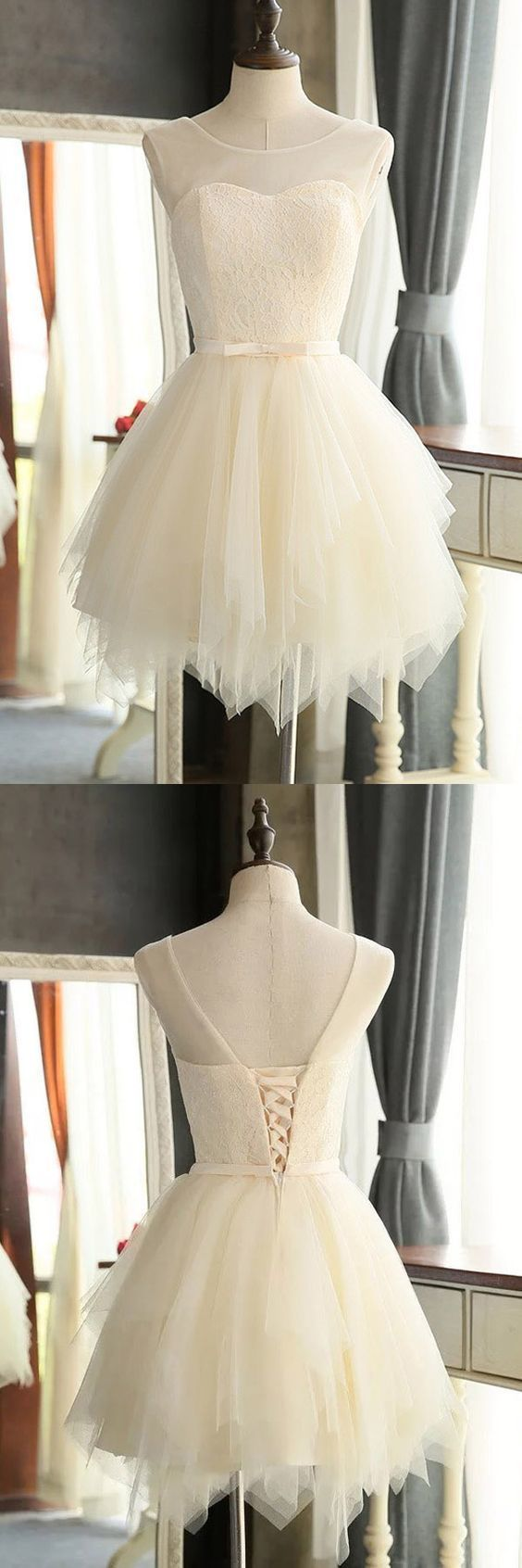 Lovely High Quality Mini Charming Tulle Short Prom Dresses Homecoming Dresses,