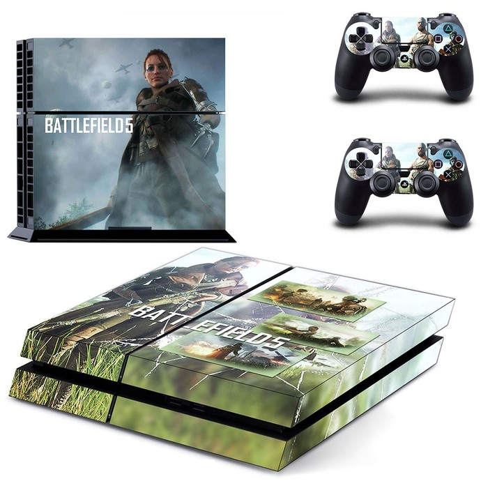 Battlefield 5 ps4 skin decal for console and 2 controllers