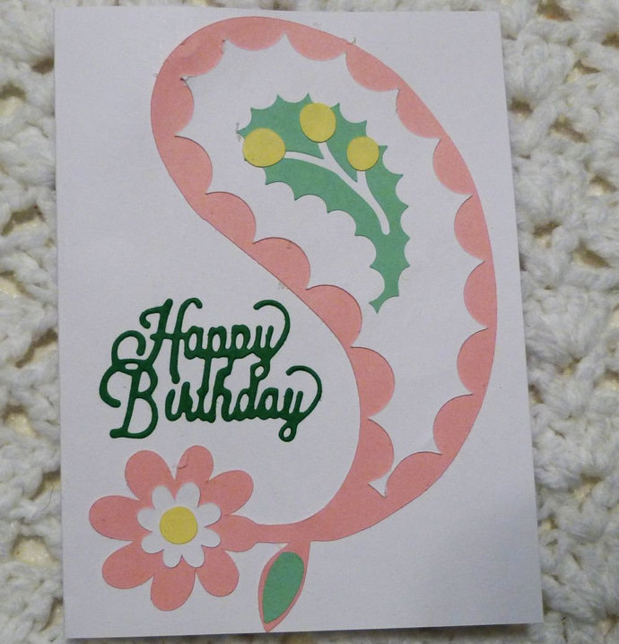 Happy birthday greeting card handmade by handmadegiftsbybarb on happy birthday greeting card handmade greeting card paisley pastel birthday m4hsunfo