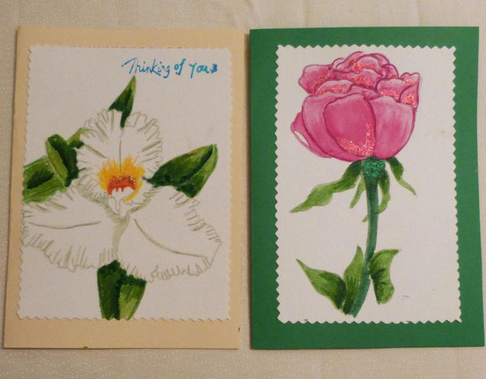 Handmade greeting card set of 2 hand by handmadegiftsbybarb on zibbet handmade greeting card set of 2 hand painted all occasion greeting cards m4hsunfo