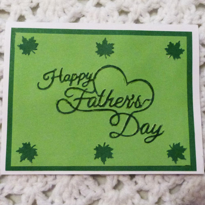 Happy fathers day greeting cardcard by handmadegiftsbybarb on zibbet happy fathers day greeting cardcard for dad fathers day card green note m4hsunfo