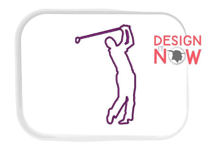 4 Applique Designs Golf Machine Embroidery By Designitnowltd On Zibbet