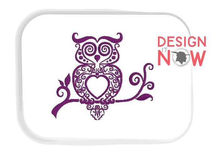 SET of 4 Owl Unicorn Machine Embroidery Design