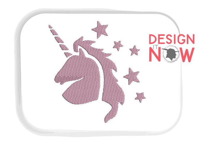 SET of 4 Unicorn Machine Embroidery Design