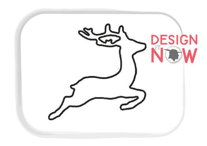 Deer Applique Buck Machine Embroidery Design - 2 Sizes