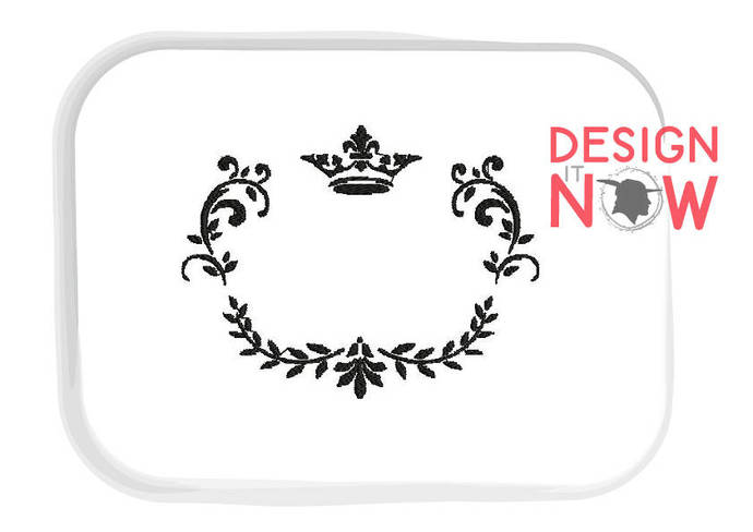 Ornament Frame Crown Decor Machine Embroidery Design - 3 Sizes
