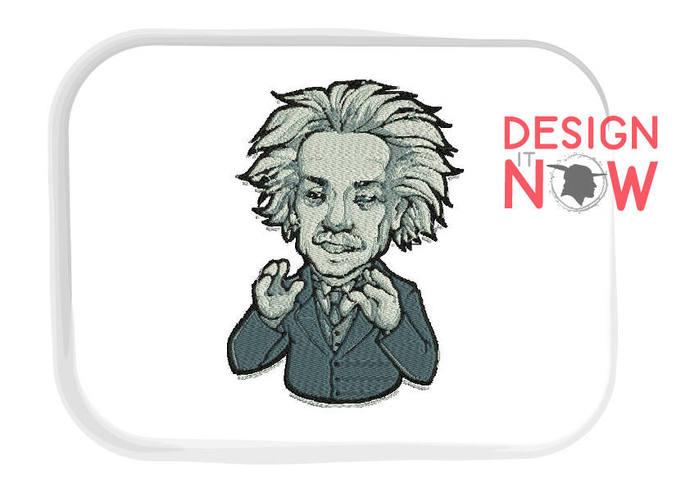 Einstein Machine Embroidery Design - One Size