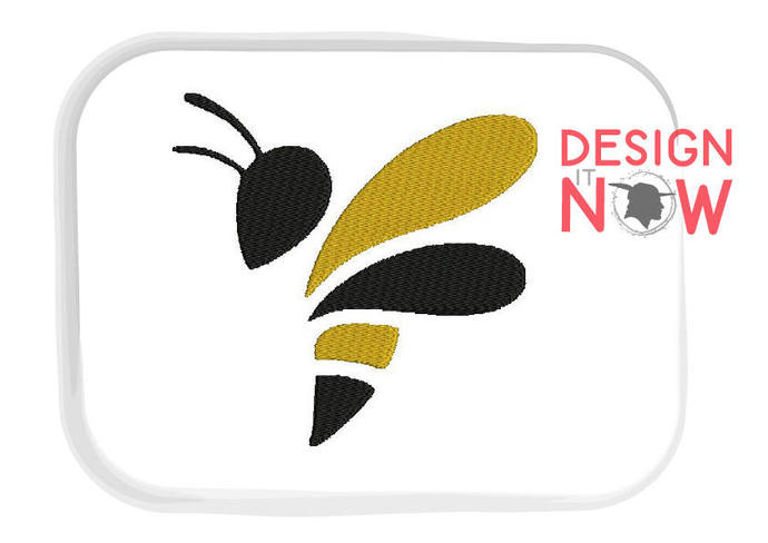 Wasp Machine Embroidery Design - 5 Sizes