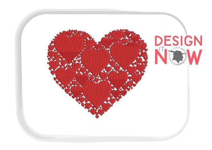 Get 4 Heart Designs Love Machine Embroidery Design