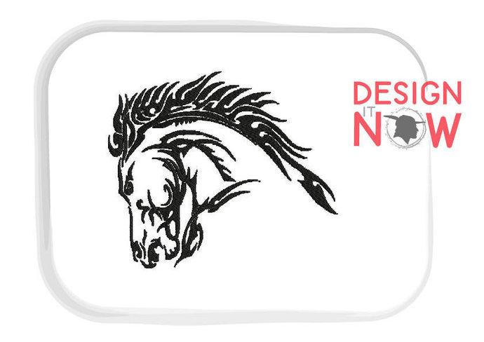 Stallion Horse Head Machine Embroidery Design - 2 Sizes