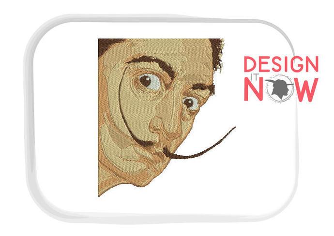 Dali Machine Embroidery Design - One Size