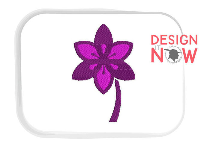 SET of 4 Flower Machine Embroidery Design - 5 Sizes