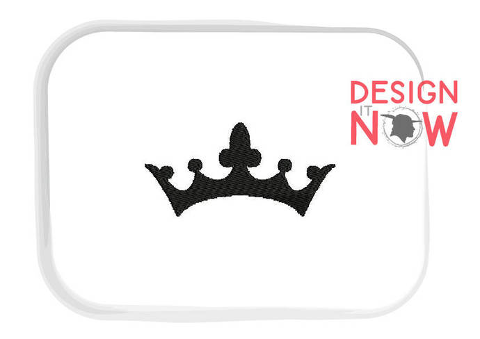 Crown Diadem Machine Embroidery Design - 5 Sizes