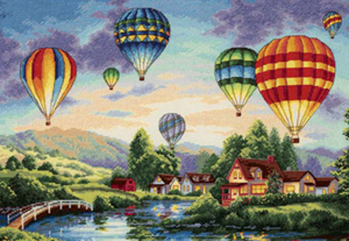 Balloon Glow Cross Stitch Pattern***LOOK***X***INSTANT DOWNLOAD***