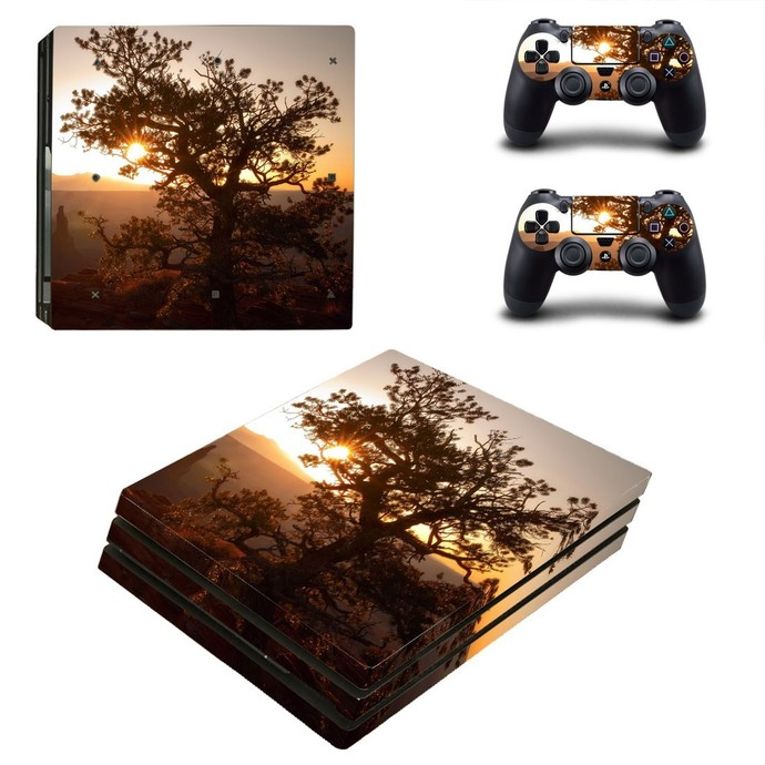 Abstract wallpaper PS4 PRO edition skin Sticker decal Console and controllers