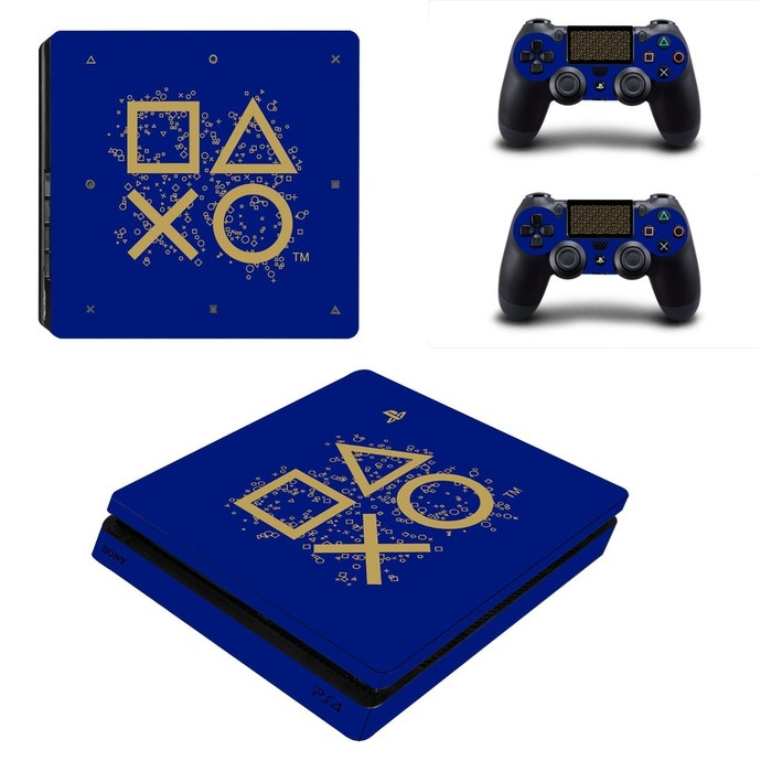 Classic design ps4 slim skin decal for console and controllers