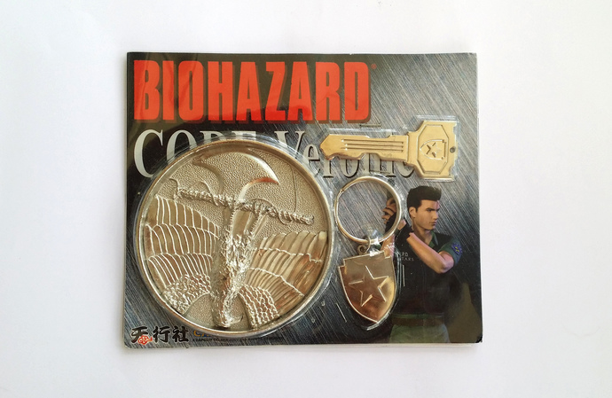 Hong Kong Comic BIOHAZARD Code: Veronica Chris Redfield Round Medallion