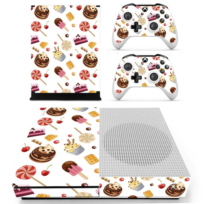 Fast food decal skin for xbox one S console and 2 controllers