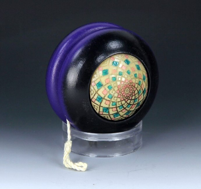 Vintage Tom Kuhn/BC Phantom YoYo - Handmade Glow-In-The-Dark Mandala