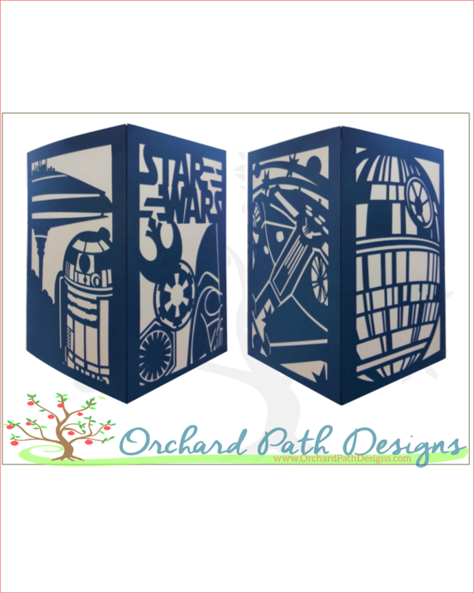 Star Wars Themed Paper Lantern For By Orchard Path Designs On Zibbet