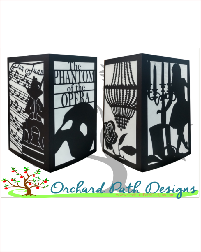 Phantom Of The Opera Themed Paper By Orchard Path Designs On Zibbet