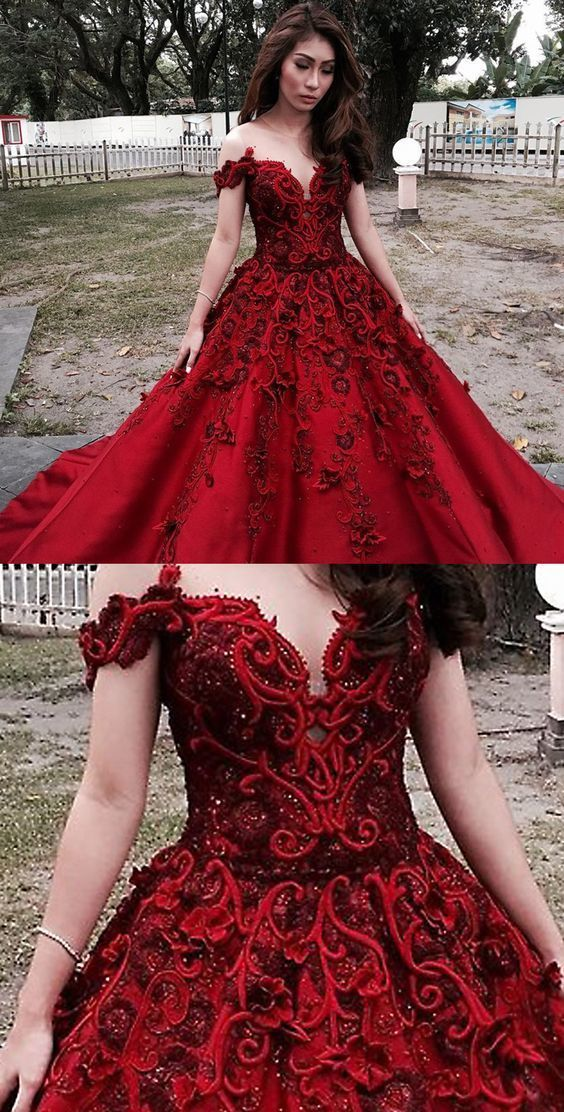 f98c7a826698 A-Line Illusion Neck Cold Shoulder Dark Red by MeetBeauty on Zibbet