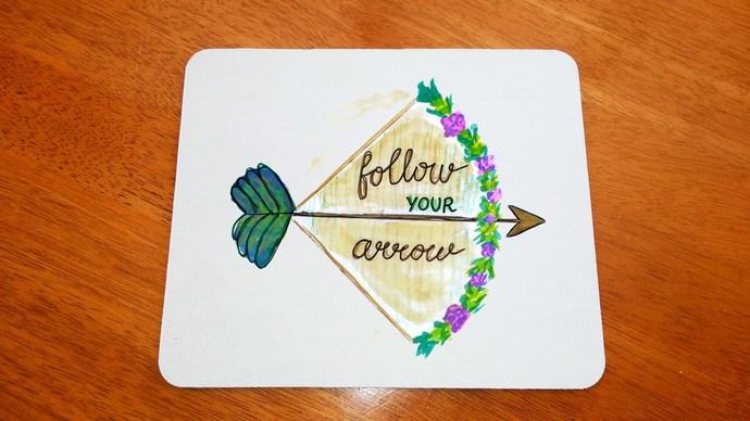 Christian Follow Your Arrow, Mouse Pad, Mouse Mat