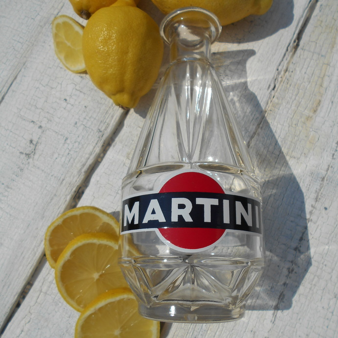 Rare French Martini Water Carafe from their Advertising Collection in the 1960s.