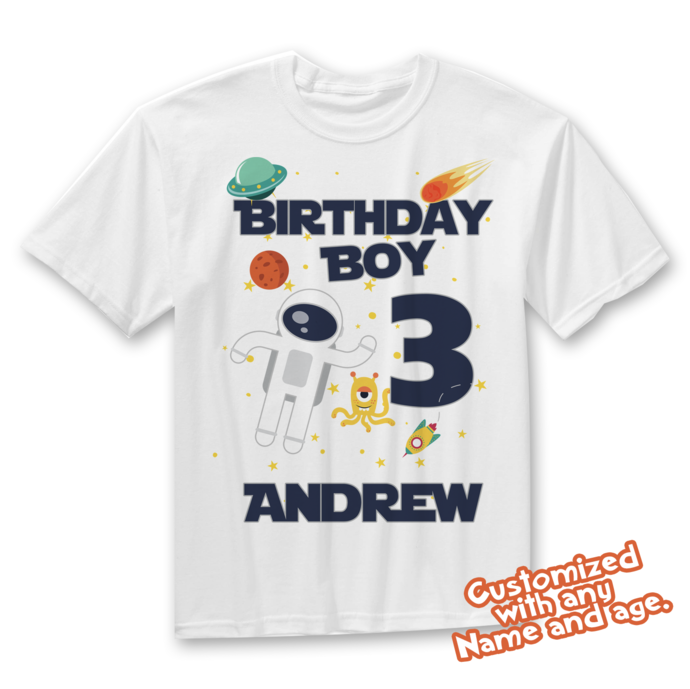 Astronaut Party, Astronaut Birthday, Astronaut Shirt, Space Birthday, Space